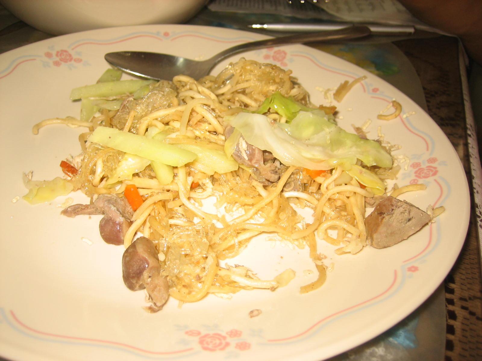 how to cook pancit sotanghon with canton
