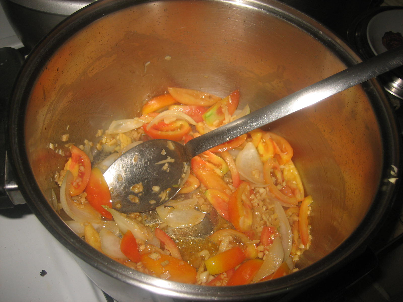 Sauteing The Vegetables After Cooking