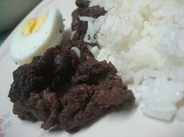 Tapa, hard boiled egg, sinangag