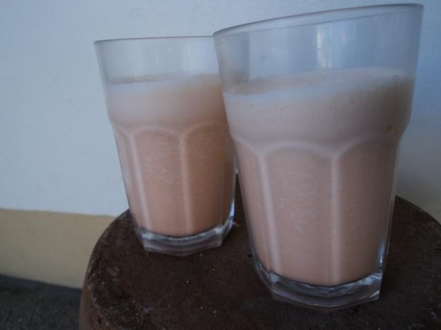 Orange melon milk
