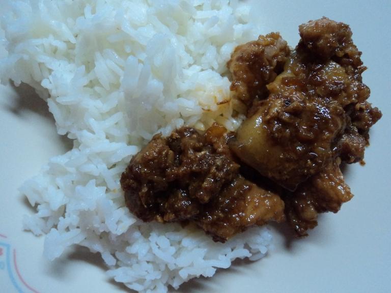 Pork on rice! :)