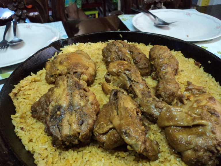 Chicken on rice