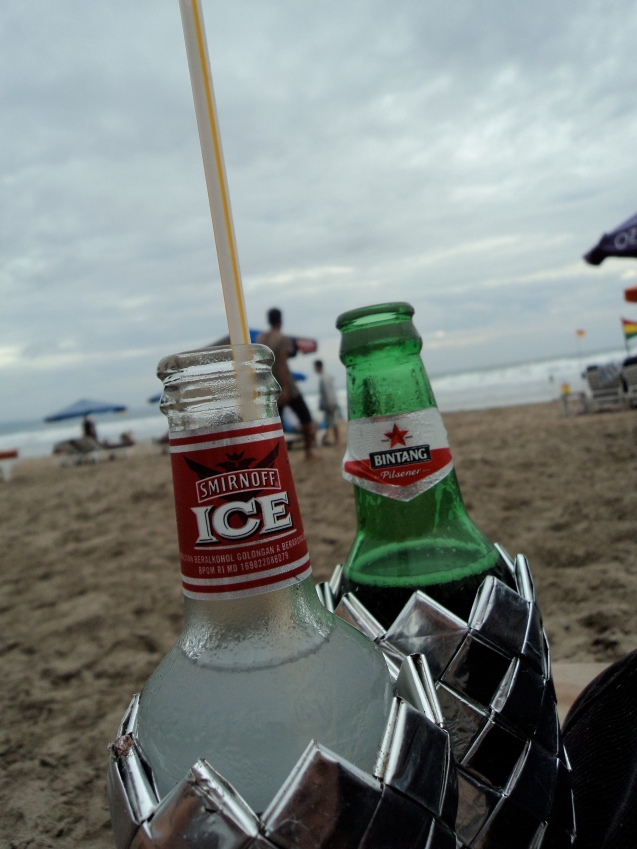 Drinks by the beach, what Bali is all about