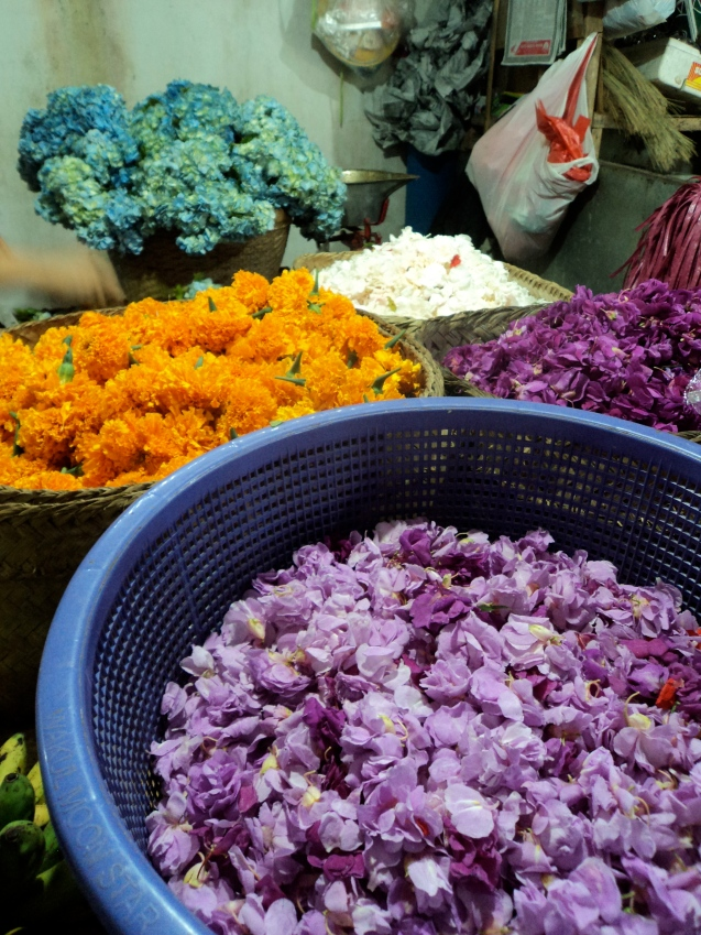 Flowers, for their daily offerings as Hindus