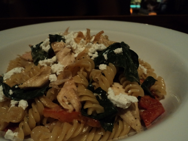 Pasta with goat cheese