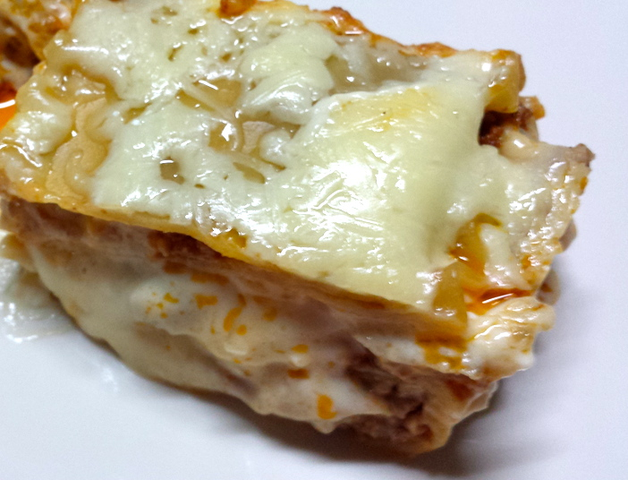 Melted cheese on top