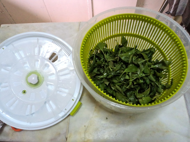 With the spun basil leaves :)
