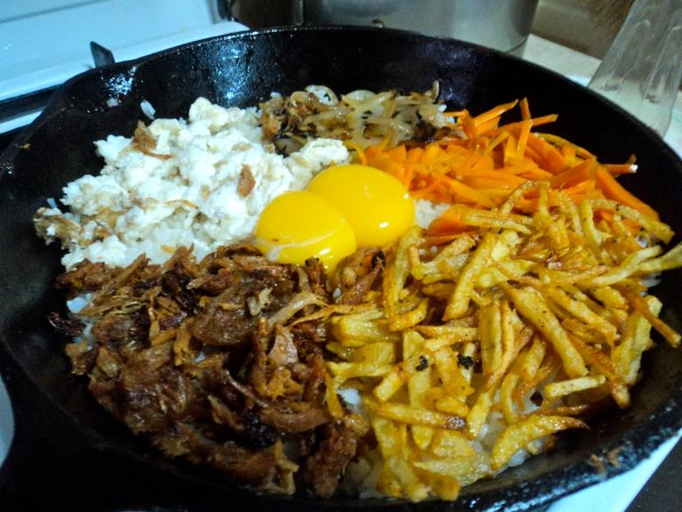 Bibimbap for breakfast :)
