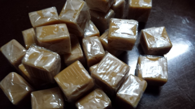 """Caramels, without the """"Kraft"""" on the wrappers anymore. :)"""