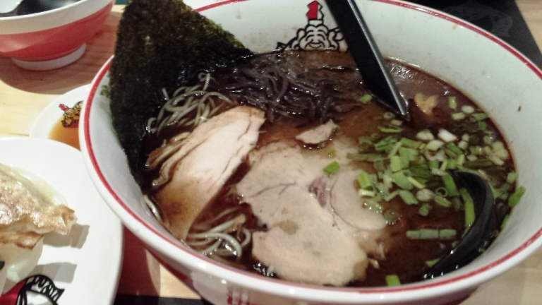 A close-up of the oily ramen :)