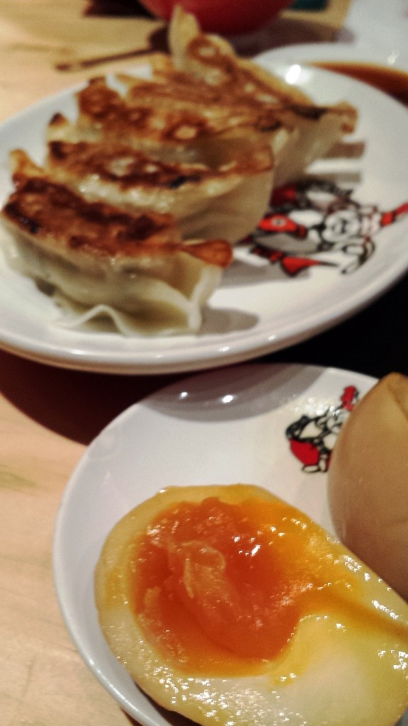 Egg and gyoza