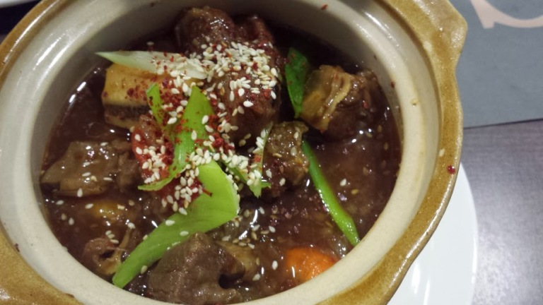 Korean beef stew - less sweet than other stews, tender. Wish it had more of a kick :)