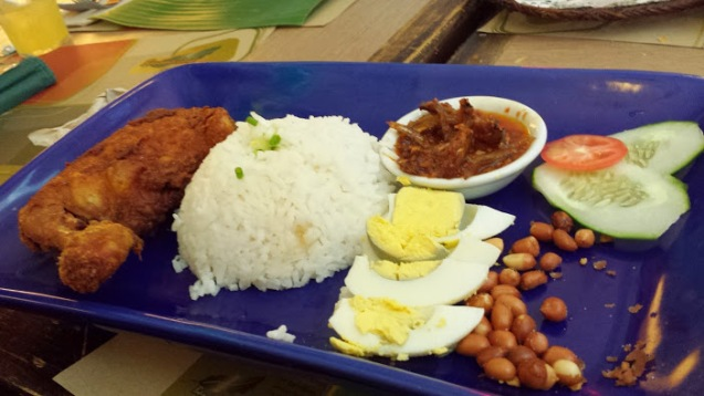 Nasi lemak, I touched the nuts before taking a picture