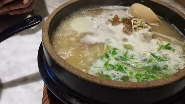 Beef tendon soup