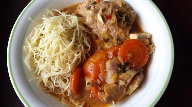 Soup and noodles