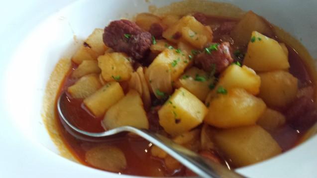 Potato and chorizo