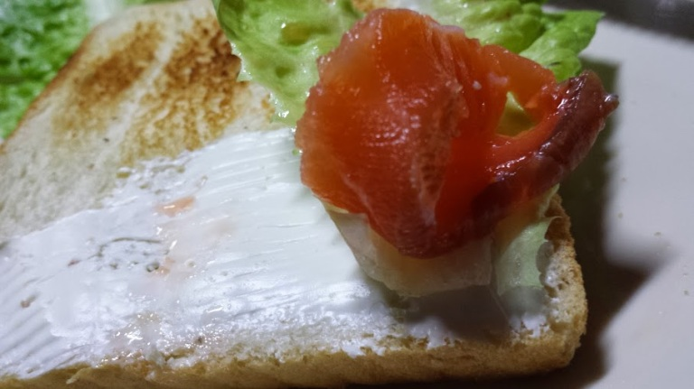 Salmon on bread