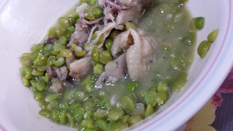 Chicken and pea