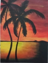 Hawaiian Acrylic on canvas board 9 by 12 inches