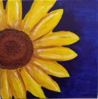 """SUNFLOWER"" 16 by 16 Acrylic on canvas panel"