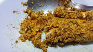 All the spices into a paste