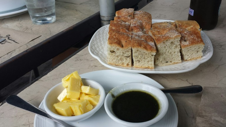 Bread as part of the dishes