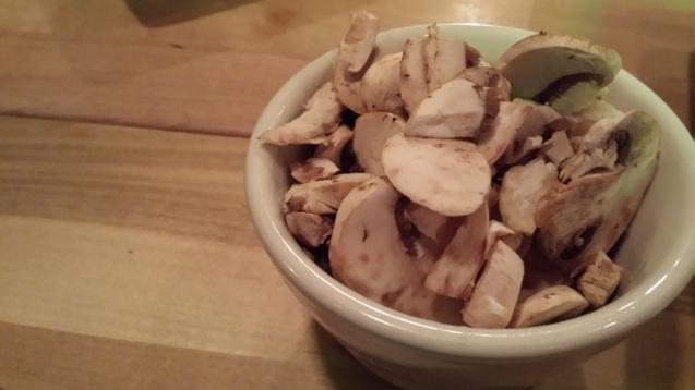 Free bowl of mushroom