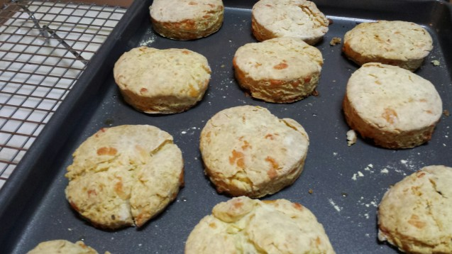 Biscuits fresh from the oven!