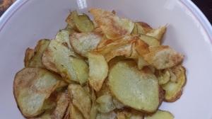 Semi-fried potato chips