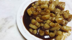 In oyster sauce