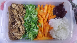 Bibimbap packed lunch